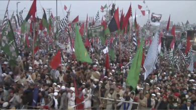 Photo of PDM addresses mammoth rally in Peshawar despite government hurdles
