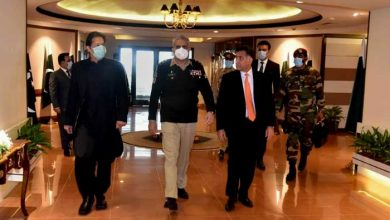Photo of PM Khan visits ISI Headquarters alongside Gen Bajwa