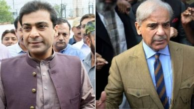 Photo of Mian Shehbaz Sharif, Hamza, released on 5 day parole to attend Begum Shamim Akhtar's funeral