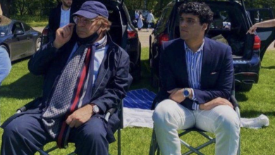 Photo of Nawaz Sharif attends grandson's polo match in Cambridge