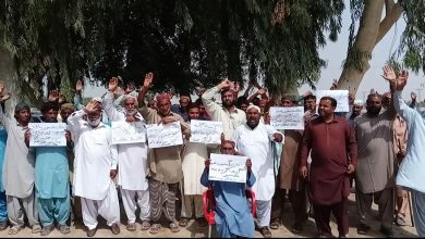 Photo of GM Khoso leads protest of Kashmore growers
