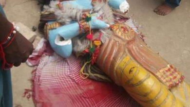 Photo of Hindu temple vandalised in Sindh by mob