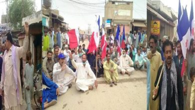 Photo of Protest against water shortage in Tail-end areas of Sujawal