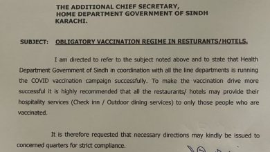 Photo of Sindh requests NCOC to make vaccination certificates mandatory for banking services