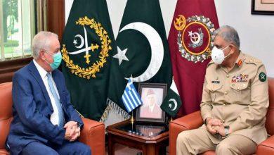 Photo of COAS Qamar Bajwa, Greek Ambassador discuss cooperation in various fields